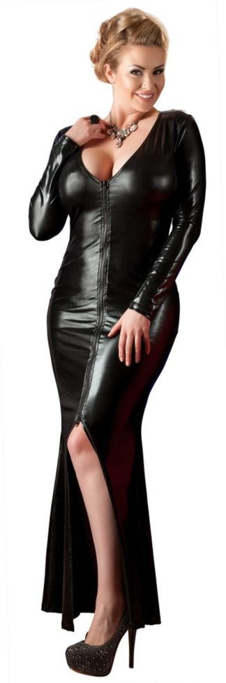 Wetlook-Kleid lang